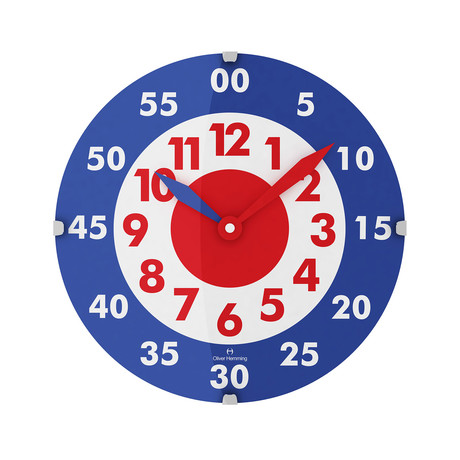 Vitri 300mm Domed Glass Wall Clock // Stainless Steel // V4
