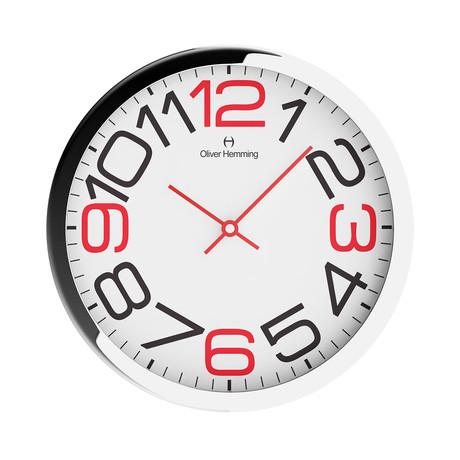 Duplex Wide Rim Wall Clock // Chrome Steel // V7
