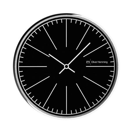 Simplex 300mm Thin Rim Wall Clock // Chrome Steel // V8