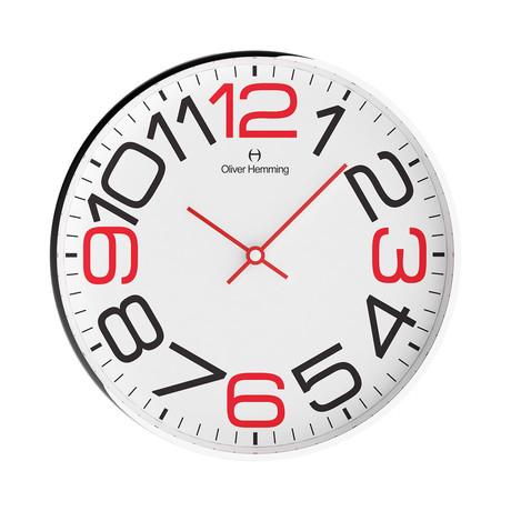 Simplex 300mm Thin Rim Wall Clock // Chrome Steel // V6
