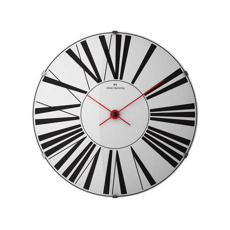 Vitri 370mm Domed Glass Wall Clock // Stainless Steel // V3