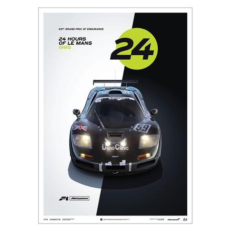 McLaren F1 GTR // 24h Le Mans // Poster