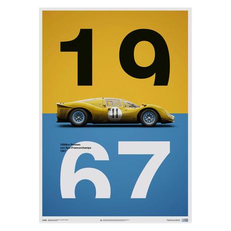 Ferrari 412P // Yellow // Spa//Francorchamps // 1967