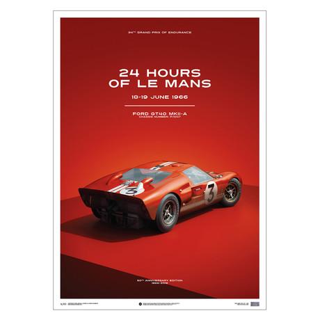 Ford GT40 // Dan Gurney // Red // 24h Le Mans // 1966