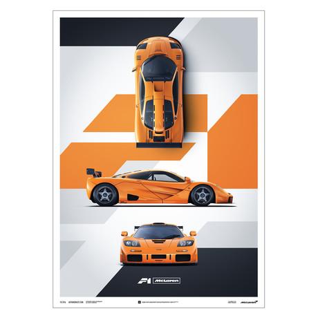 McLaren F1 LM // Papaya Orange // Poster