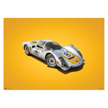 Porsche 906 // White // Japanese GP // 1967 // Colors of Speed Poster
