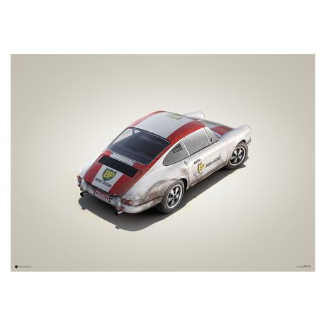 Porsche 911R // BP Racing // Monza // 1967 // Colors of Speed Poster