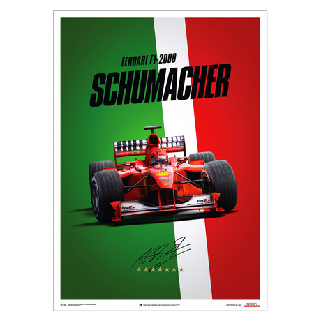 Ferrari F1//2000 // Michael Schumacher // Italy // Suzuka GP // Poster