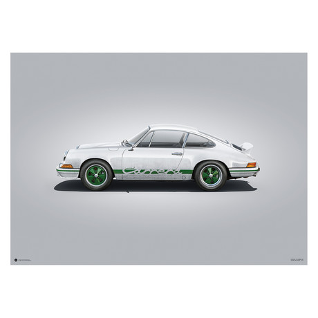 Porsche 911 RS // Colors of Speed Poster (Blue)