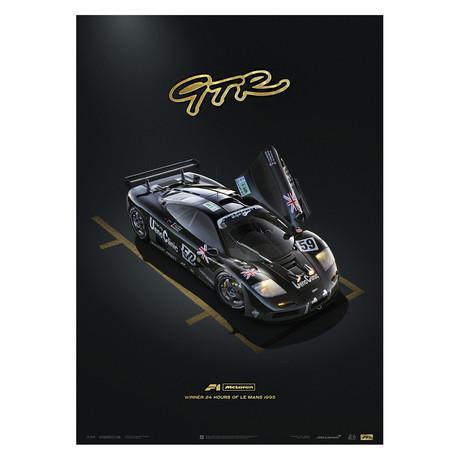 McLaren F1 GTR // 24h Le Mans // Unique & Limited Edition Poster