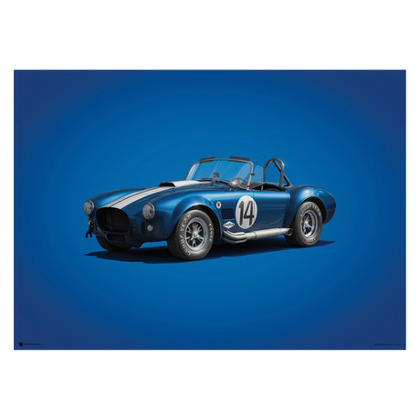 Shelby Ford AC Cobra Mk III // Blue // 1965 // Colors of Speed Poster