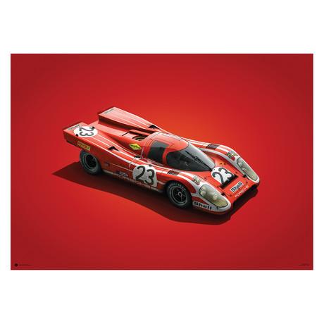 Porsche 917 // Salzburg // 24h Le Mans // 1970 // Colors of Speed Poster