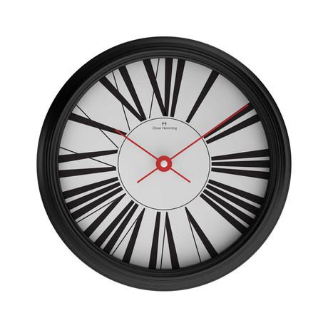 W460 Garage Wall Clock // Black Chrome Steel