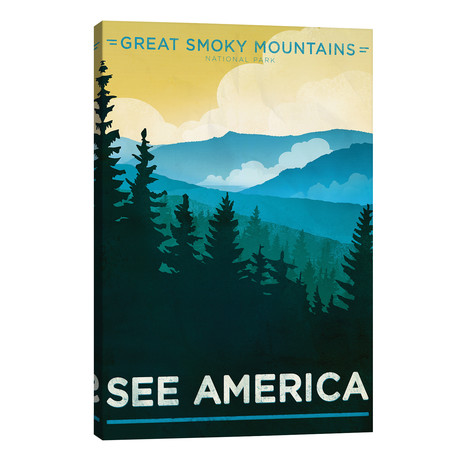 """The Great Smoky Mountains National Park // Jon Cain // Creative Action Network (40""""W x 26""""H x 1.5""""D)"""