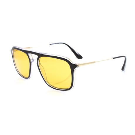 Prada // Unisex PR06VS Sunglasses // Black + Crystal