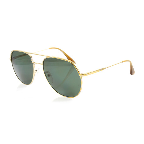 Prada // Unisex PR55US Polarized Sunglasses // Pale Gold + Green