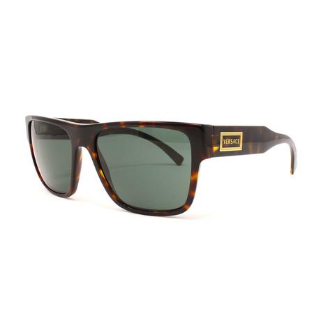 Versace // Unisex VE4379 Sunglasses // Havana + Green