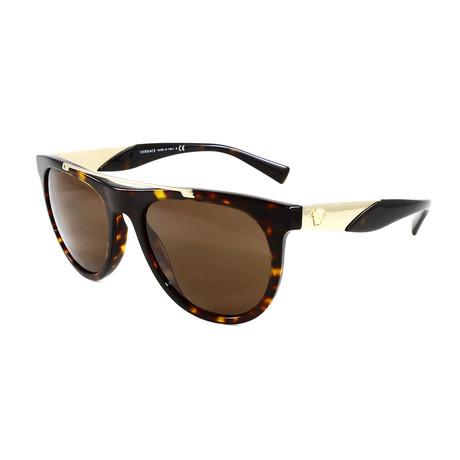 Unisex VE4371 Sunglasses // Dark Havana + Brown