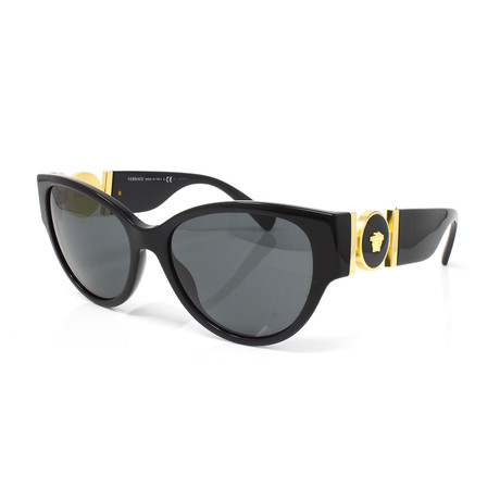 Versace // Unisex VE4368 Sunglasses // Black + Gray