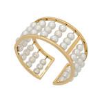 Assael 18k Yellow Gold Japanese Akoya Pearl Bangle Bracelet