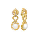 Assael 18k Yellow Gold Diamond + South Sea Pearl Earrings II