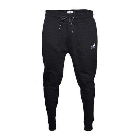 Two-Tone Drawcord Joggers // Black (S)