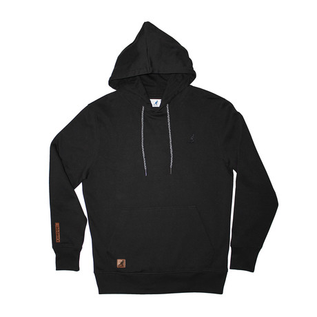 Fleece Hoodie + Two-Tone Drawcord // Black (S)