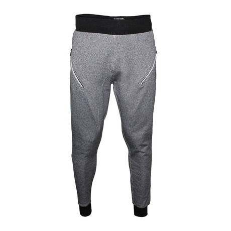 Twisted Yarn Joggers // Black + Charcoal (S)