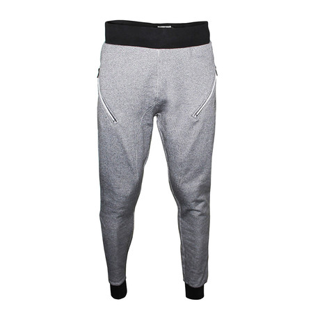 Twisted Yarn Joggers // Black + White (S)