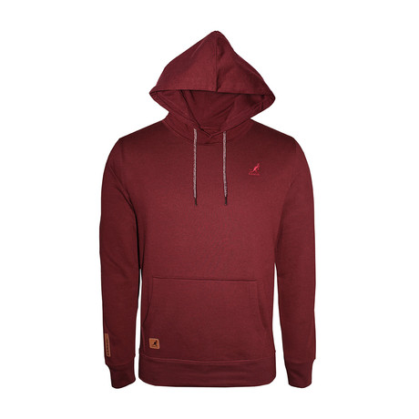Fleece Hoodie + Two-Tone Drawcord // Burgundy (S)