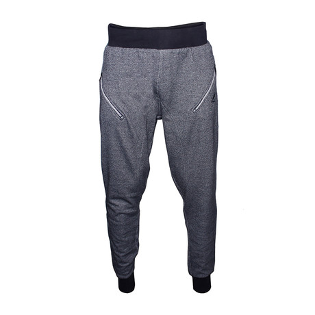 Twisted Yarn Joggers // Navy + White (S)