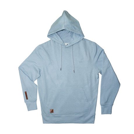 Fleece Hoodie + Two-Tone Drawcord // Xenon Blue (S)