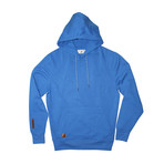 Fleece Hoodie + Two-Tone Drawcord // Palace Blue (L)