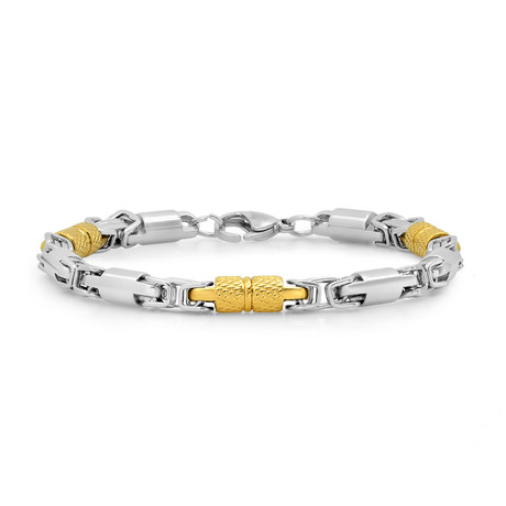 Two-Tone Bracelet // Silver + Gold