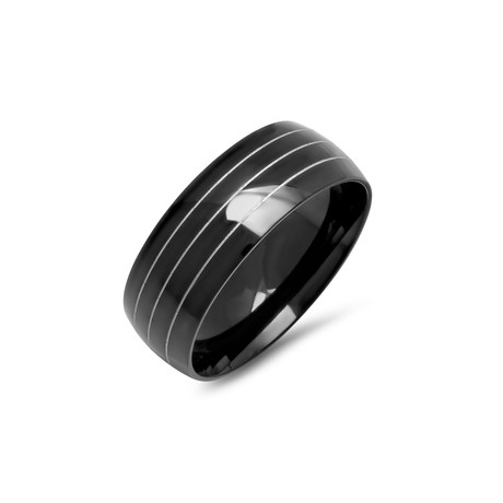 Stainless Steel Ring // Black (Size 9)