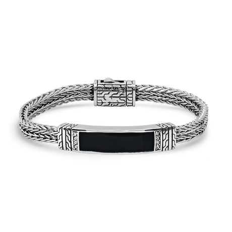 Stainless Steel Wire Cable Bracelet // Silver + Black