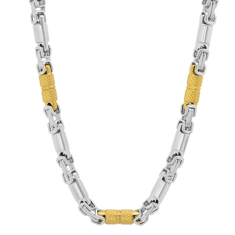 Two-Tone Necklace // Silver + Gold