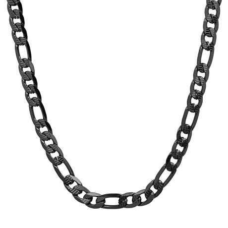 Figaro Chain Necklace // Black