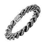 Anthony Jacobs // Stainless Steel Cuban Bracelet // Silver