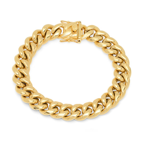 Miami Cuban Chain Link Bracelet // Yellow