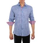 Lim Long Sleeve Button Up Shirt // Blue (S)
