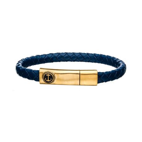 Anchor Bar Bracelet // Blue + Gold