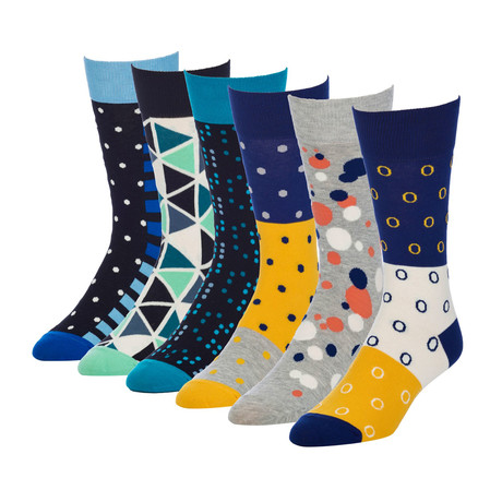 Dimension Sonic Crew Sock // Pack of 6