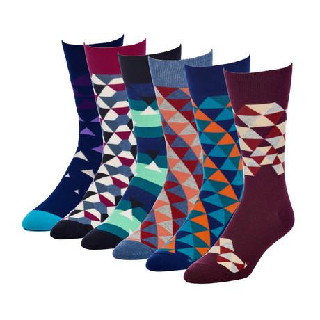 Umbrella Revel Crew Sock // Pack of 6