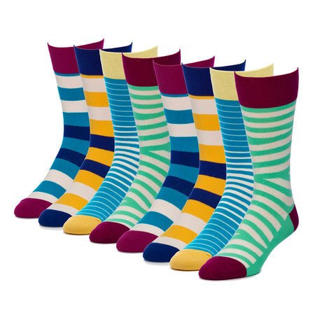 Commander Accent Crew Sock // Pack of 8