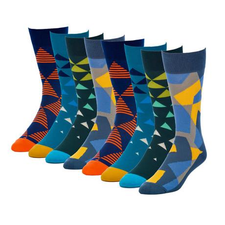 Trek Fractal Crew Sock // Pack of 8