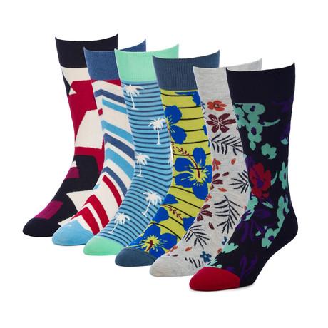Escape Resort Crew Sock // Pack of 6