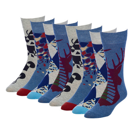 Sharpen Stag Crew Sock // Pack of 8