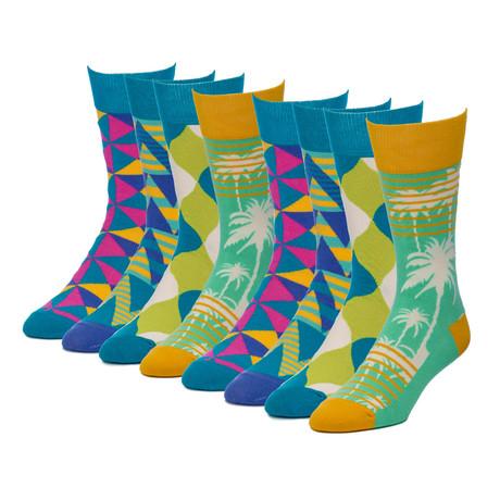 Pinwheel Fairway Crew Sock // Pack of 8
