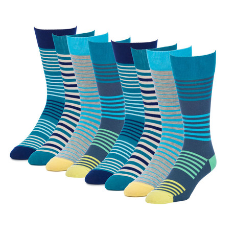 Coastline Radiance Crew Sock // Pack of 8